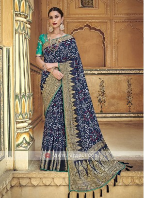 Dark Blue Traditional Saree