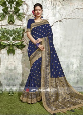 Dark Blue Weaving Saree