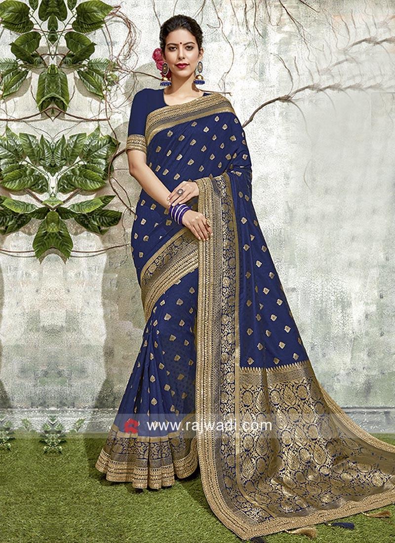 Dark Blue Weaving Saree