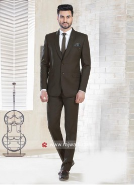 Dark Brown Wedding Wear Suit