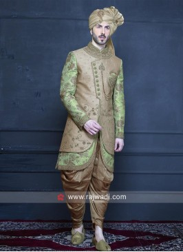 Groom Brocade Silk Indo Western