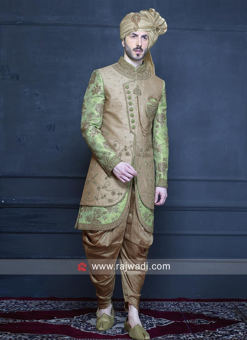 Groom Brocade Silk Indo Western