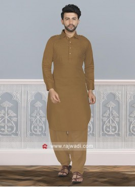 Golden Brown Color Pathani Set