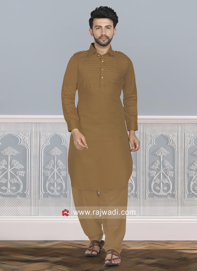 Golden Brown Color Pathani Set
