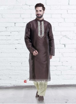 Attractive Coffee Color Kurta Pajama