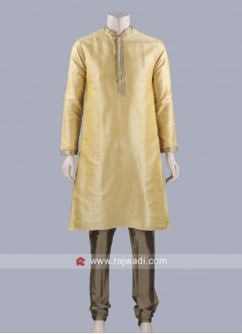 Dark Gold Color Kurta Pajama