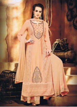 Chiffon and Net Palazzo Set with Dupatta