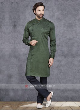 Dark Green Kurta Pajama