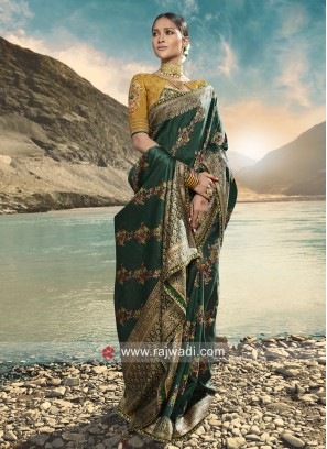 Dark Green Saree For Wedding