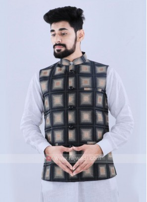 Dark Grey Color Nehru Jacket