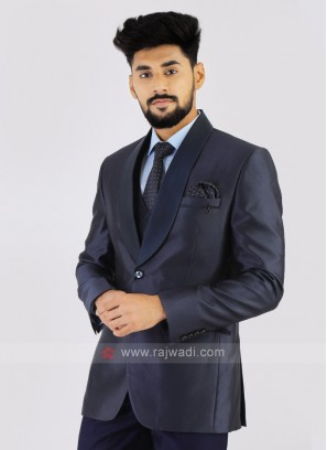 Dark Grey Imported Party Wear Suit