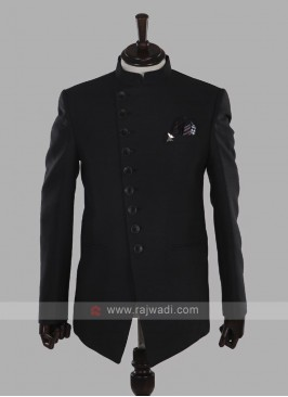 Dark Grey Jodhpuri Suit