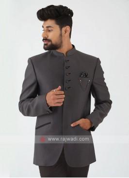Dark Grey Jodhpuri Suit