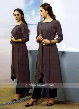 Dark Grey Layered Kurti