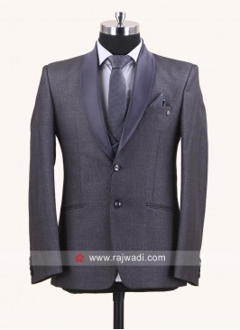 Dark Grey Suit For Wedding