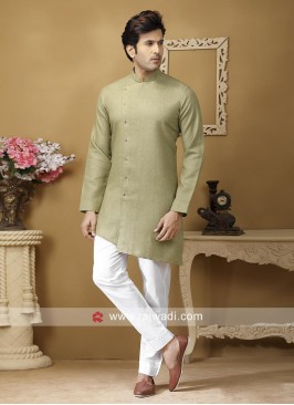 Dark Khaki Color Kurta Set