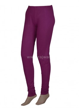 Dark Magenta Coloured Leggings
