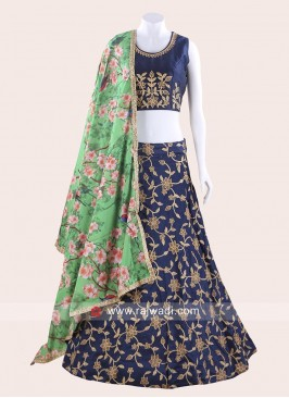 Dark Navy Blue Chaniya Choli