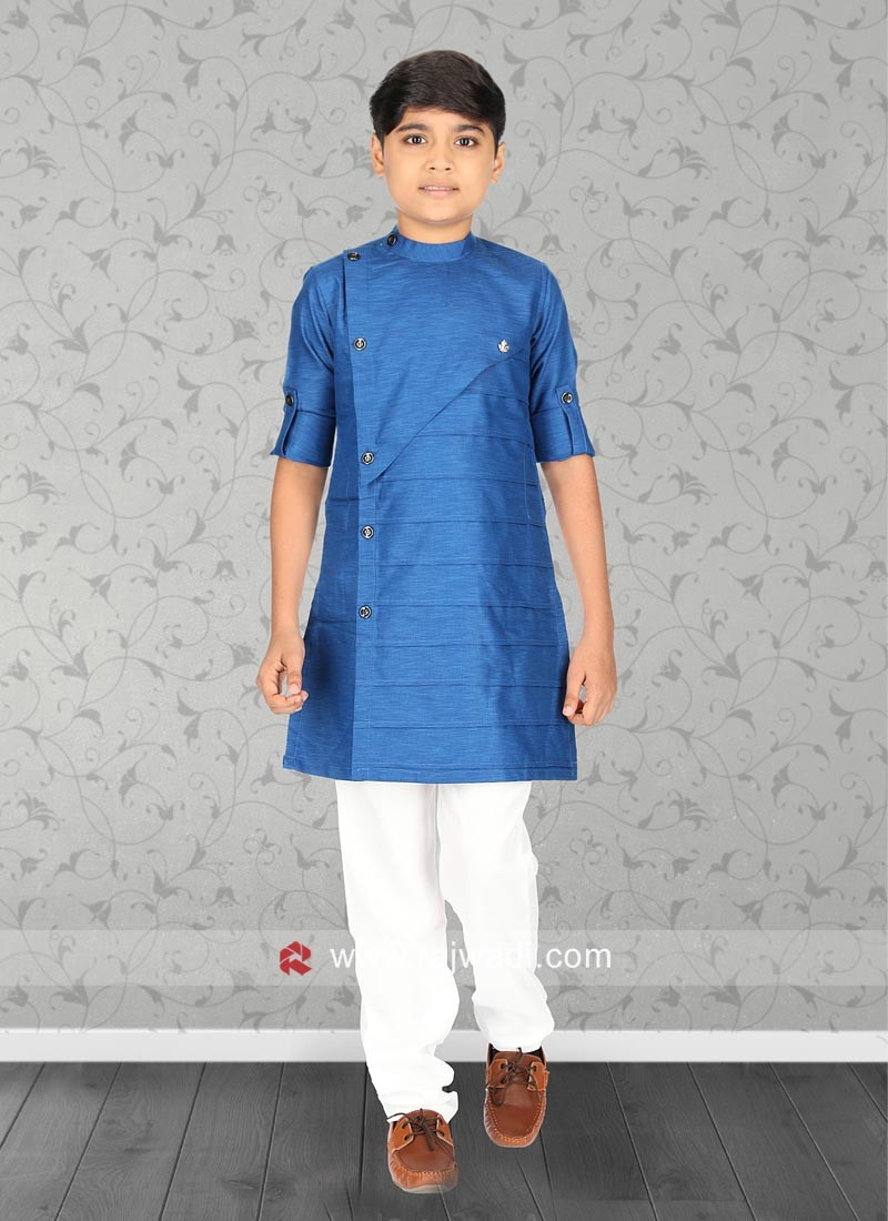 Stylish Blue Color Kurta Pajama Set