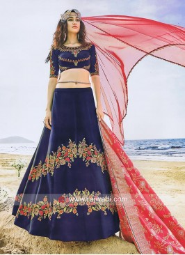 Dark Navy Blue Heavy Lehenga Choli