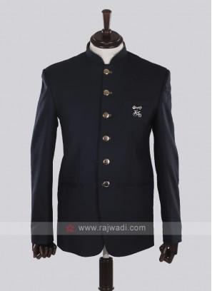 Dark navy blue Jodhpuri Suit