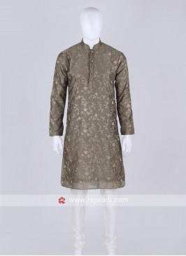 dark olive and off white kurta pajama