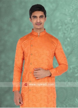 Marvelous Orange Kurta For Wedding