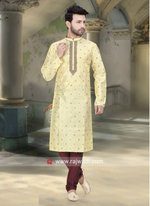 Traditional Cream Kurta Pajama