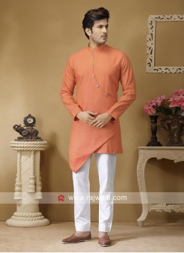 Dark Peach Color Kurta Set