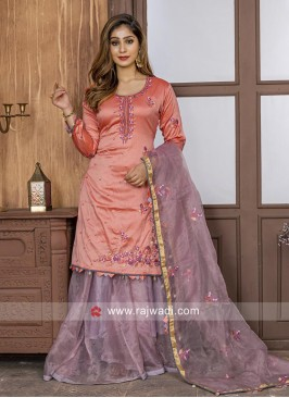 Dark Peach Lehenga Salwar Suit