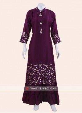 Dark Purple Double Layered Kurti