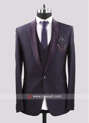Dark Purple Imported Fabric Suit