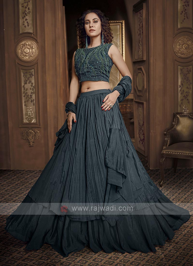 Dark Rama Green Lehenga Choli
