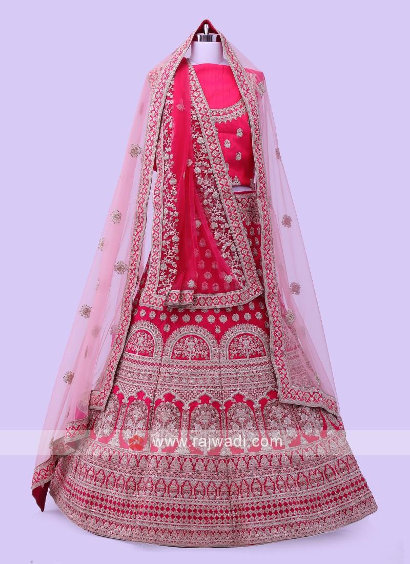 Dark Rani Bridal lehenga Choli
