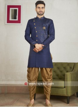 Attractive Navy Color Patiala Suit