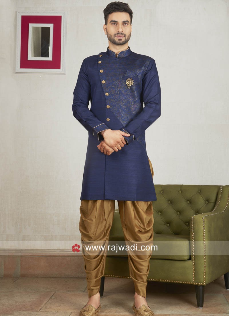 Attractive Navy Color Patiala Suit