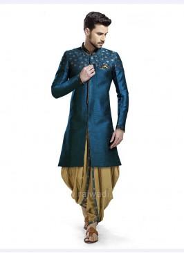 Dark Teal Color Patiala Suit