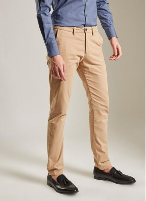 Daro Regular Fit Beige Trouser By Rare Rabbit