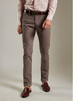 Daro Slim Fit Brown Trouser By Rare Rabbit