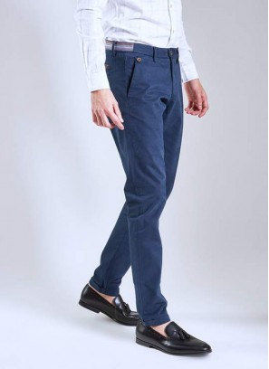 Daro Slim Fit NavyTrouser By Rare Rabbit