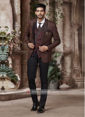 dashing brown color suit