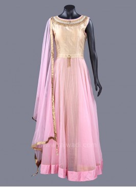 Dazzling  Cotton Silk Anarkali Suits