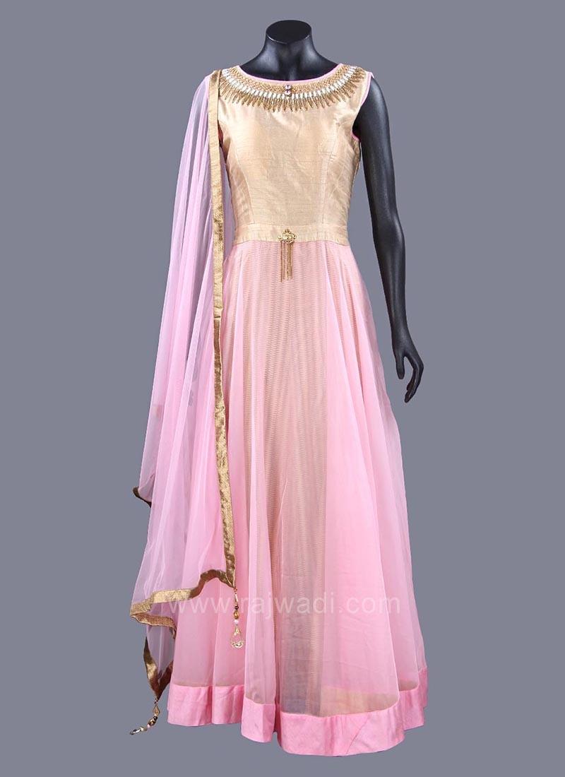 Dazzling  Cotton Silk Anarkali Suits