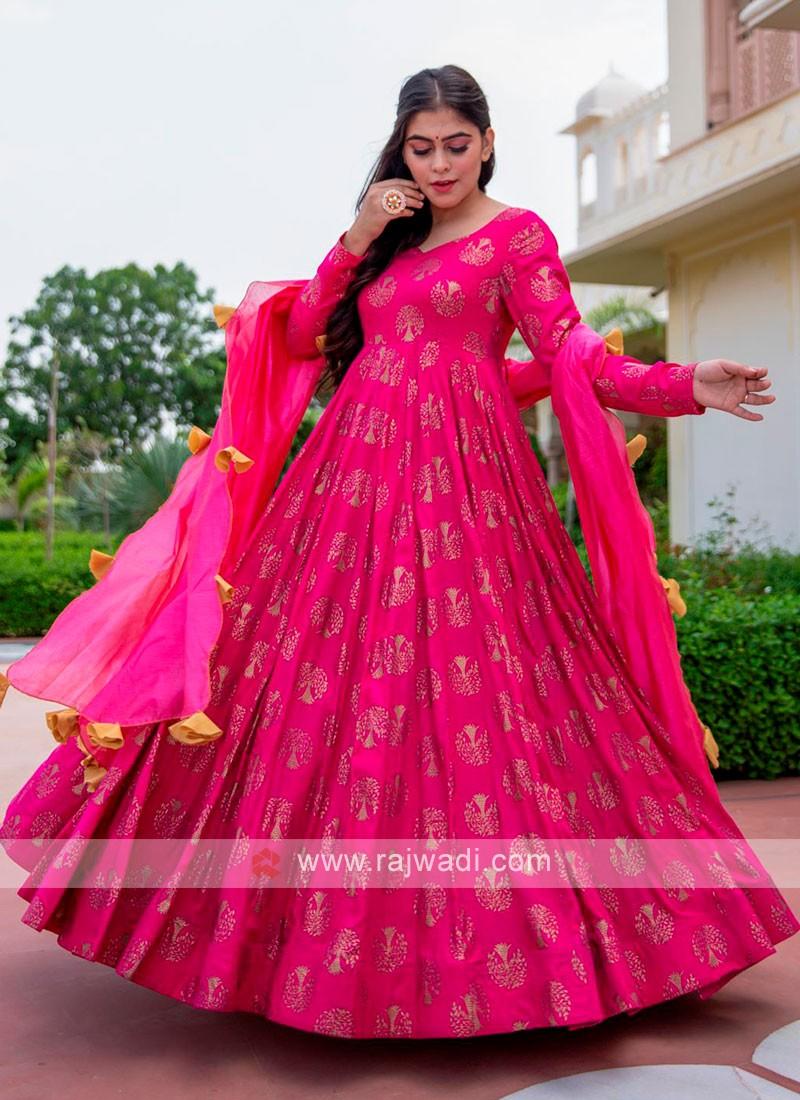Deep Pink Anarkali Suit
