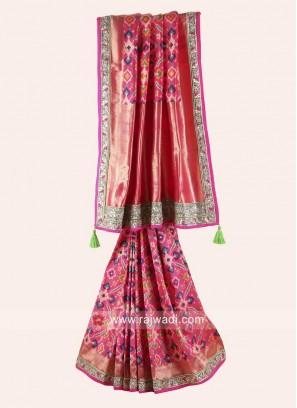 Deep Pink Patola Print Saree