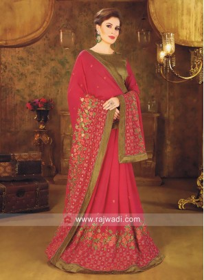 Deep Pink Wedding Designer Saree