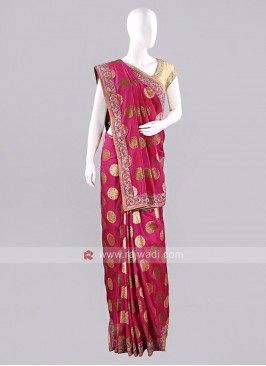 Deep Pink Wedding Sari with Blouse