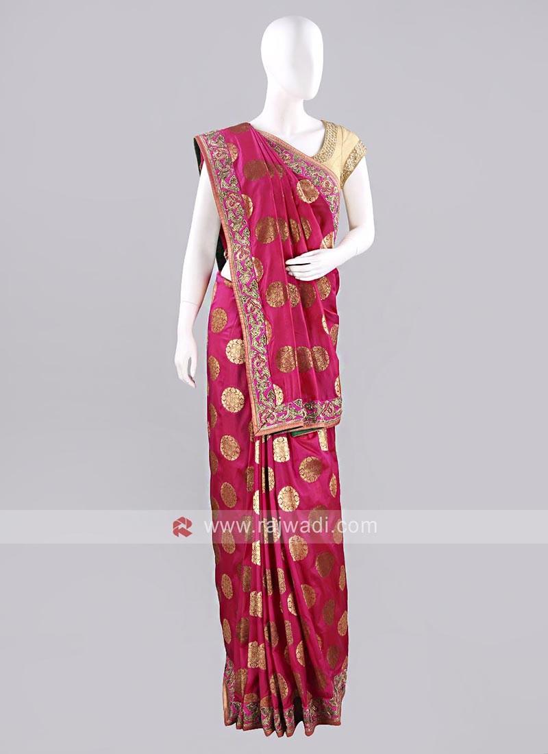 Deep Pink Wedding Sari with Blouse