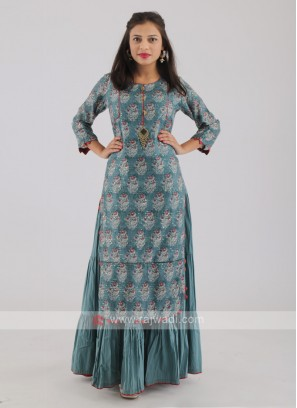 Deep Sea Green Long Kurti