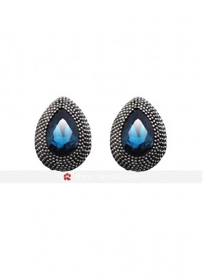 Deft Blue Crystal Stud Earrings
